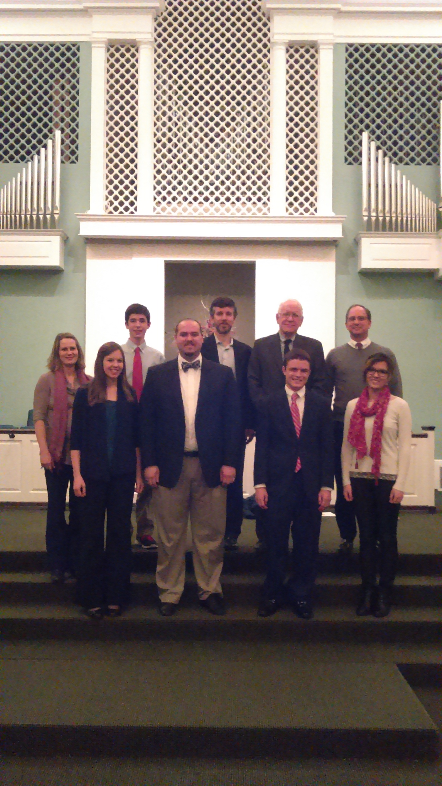 Local Organ Students in Recital at 1st Christian with their teachers.