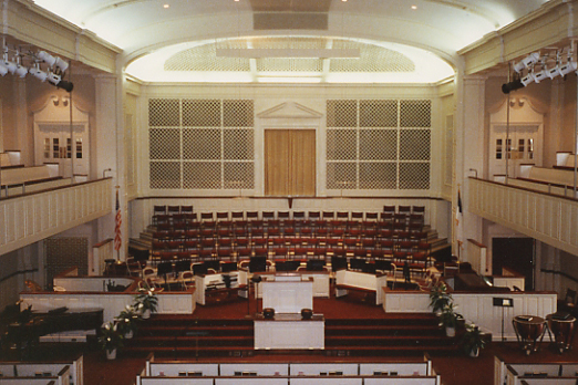The Organ At Red Bank Baptist Church Was Installed In  With An Antiphonal Division Prepared For Along With A Number Of Stops In The Rest Of The Organ